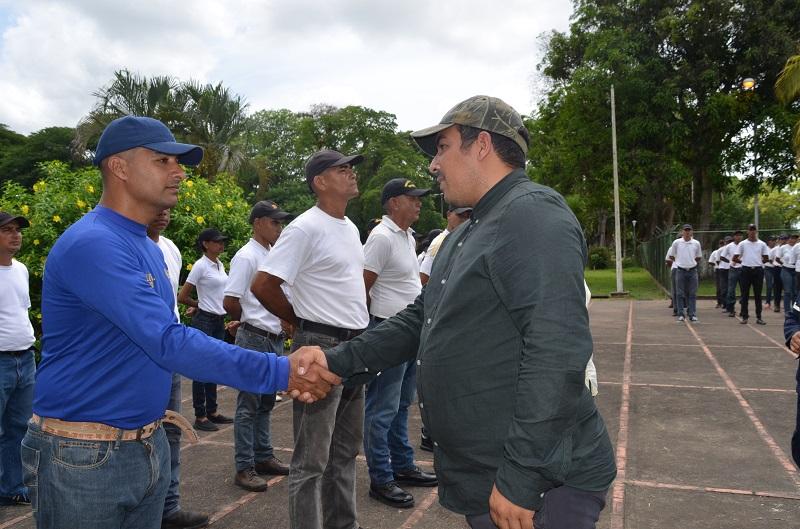 Presidente de Inparques tomó juramento a futuros guardaparques de Delta Amacuro