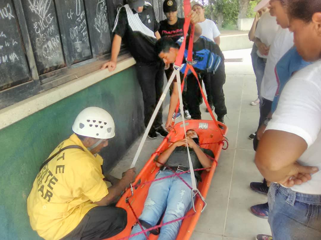 Inparques Bolívar desarrolló prácticas de búsqueda y rescate