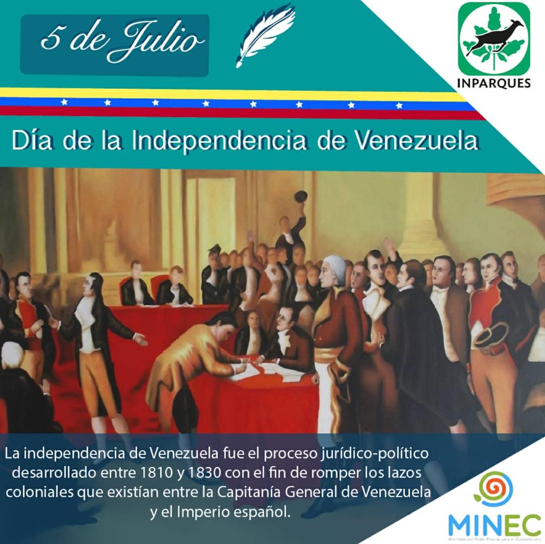 Venezuela conmemora 208 años de su independencia