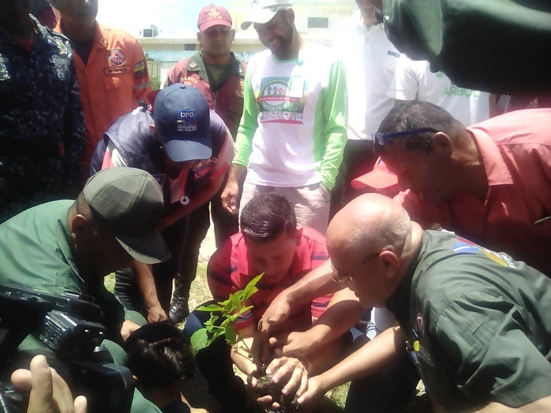 Inparques Anzoátegui colaboró en jornada de arborización en centro educativo